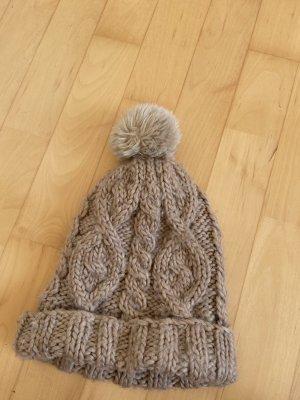 H&M Bonnet en crochet beige clair