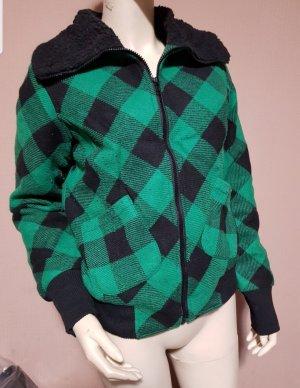 warme Jacke grün kariert (versch. Größen) NEU mit Etikett
