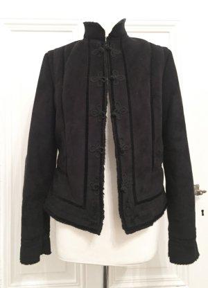 Warme Jacke in optik mit Stehkragen und verspielten Details NEU