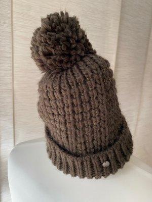 CMP Bonnet à pompon brun-gris brun polyester