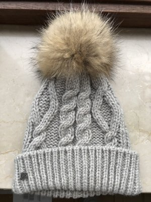 Seeberger Knitted Hat light grey-grey wool