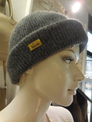 Roeckl Knitted Hat dark grey wool