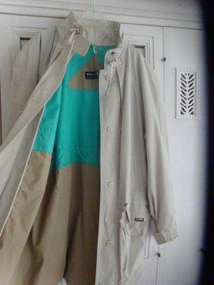 Manteau de pluie gris clair-blanc tissu mixte