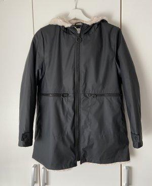 Zara Impermeabile nero-bianco