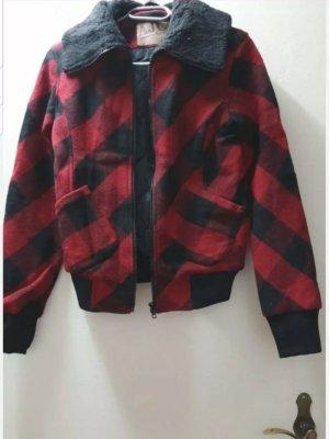 warme rot schwarz karierte Jacke NEU mit Etikett