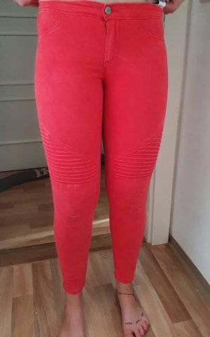 warme rote Skinny Hose