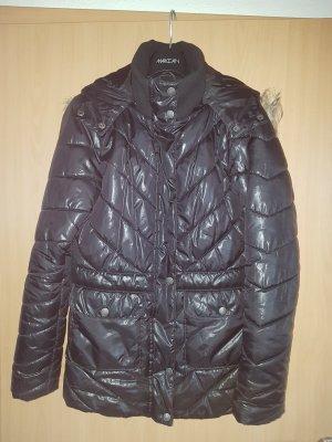 warme Stepp-Jacke in dunkelblau Gr. 36 leicht glänzend