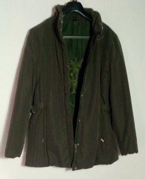 Basic Line Quilted Jacket khaki