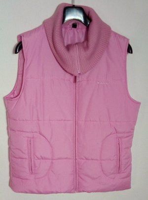 Basic Line Quilted Gilet pink