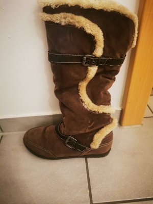Deichmann Bottes d'hiver beige-brun