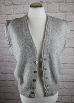 Vintage Traditional Vest silver-colored wool