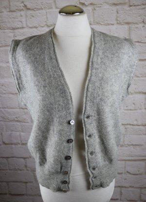 Vintage Gilet bavarois argenté laine