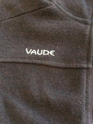 Vaude Gebreid vest donkerbruin Wol
