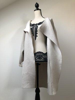 Mango Suit Gilet long tricoté beige clair