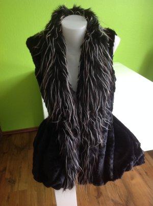 Fringed Vest black fur