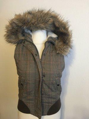 Warme Weste für Winter mit Kapuze Teddyfell Gr. M