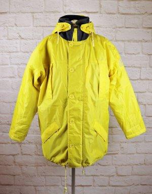 Veste d'extérieur jaune-bleu foncé polyester