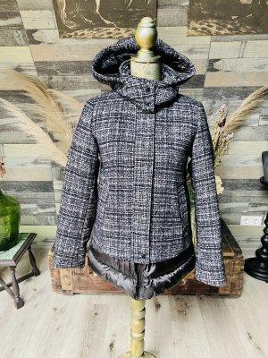 Warme Winter Jacke Daunen Wolle neu Esprit schwarz weiß Größe 34/36