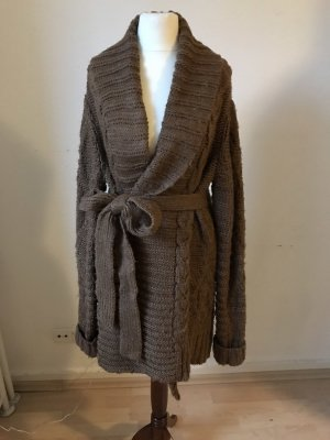 Zara Manteau en tricot cognac-brun