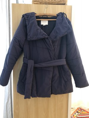 Warme Winterjacke dunkelblau Monki