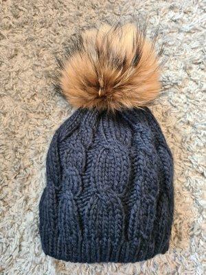 D&F Fashion Knitted Hat dark blue