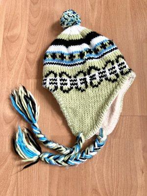 Vintage Sombrero de punto multicolor
