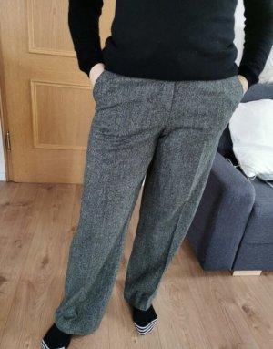 WICHELE Wełniane spodnie ciemnozielony