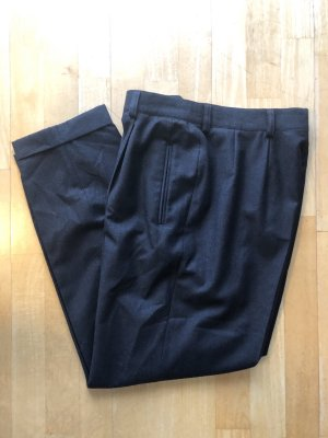 Jobis Pantalón de lana gris oscuro-gris antracita tejido mezclado