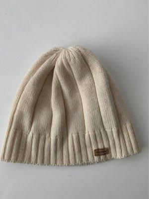 Yorn Cappello a maglia crema-bianco sporco