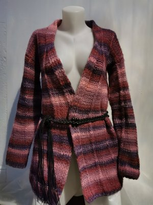 Handmade Manteau en tricot multicolore