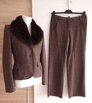 Warmer Business Hosenanzug Wolle Blazer Anzughose Esprit Gr. 38 Winter Businesskostüm
