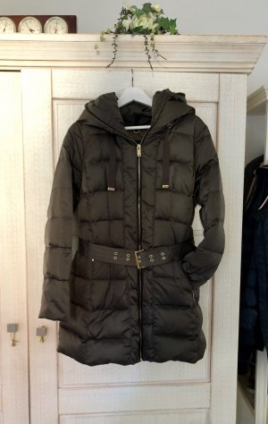 Zara Abrigo de plumón verde oscuro-color oro