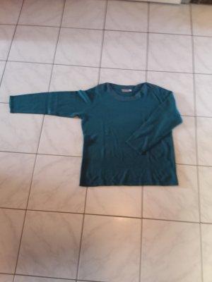 Canda Kraagloze sweater cadet blauw Acryl
