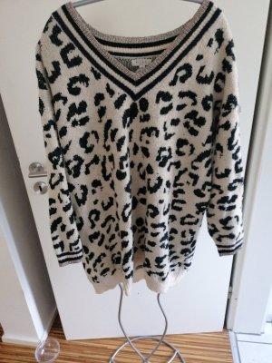 Jersey largo negro-blanco puro