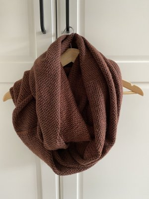 H&M Bufanda de lana negro-carmín