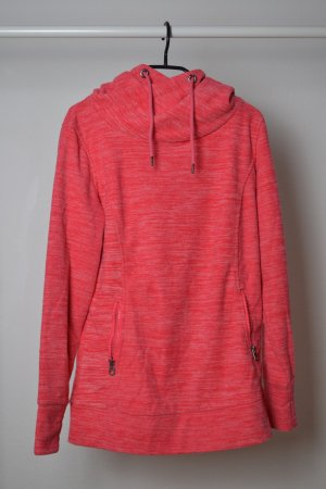 Long Sweater bright red-salmon