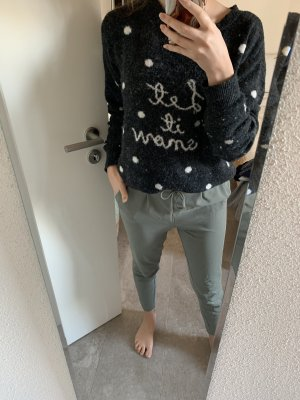 H&M Sudadera navideña negro-blanco