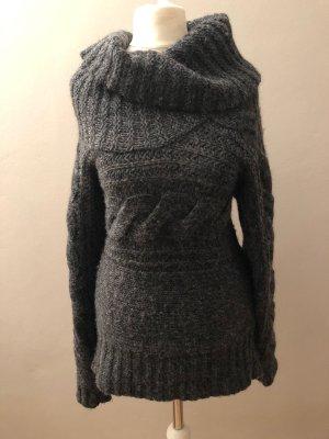 Warmer Rollkragen Pullover Strick Wolle Wollpullover Größe L