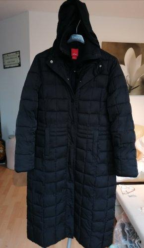 s.Oliver Quilted Coat black mixture fibre