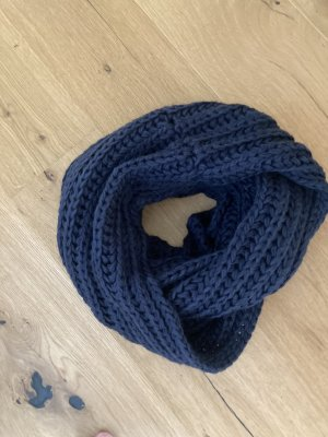 Pieces Gebreide sjaal donkerblauw