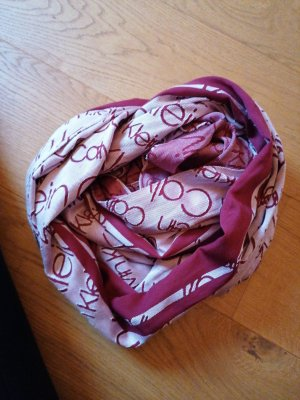 Calvin Klein Sciarpa estiva bordeaux-rosa antico