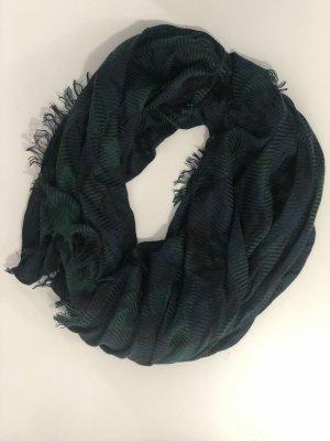 Warmer Schal grün-blau kariert