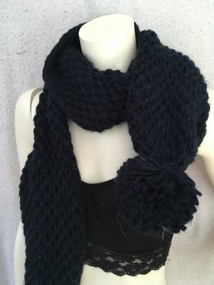 Atmosphere Woolen Scarf dark blue