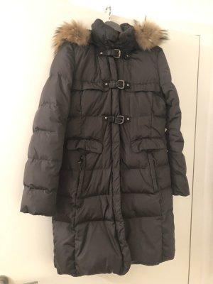 mabrun Pikowany płaszcz ciemnoszary