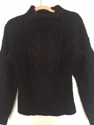 Zara Pull tricoté noir