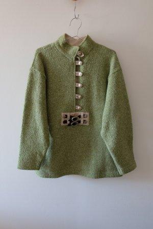 Wallmann Sudadera folclórica verde hierba-verde pradera