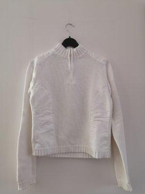 True Vintage Maglione lavorato a maglia bianco Cotone