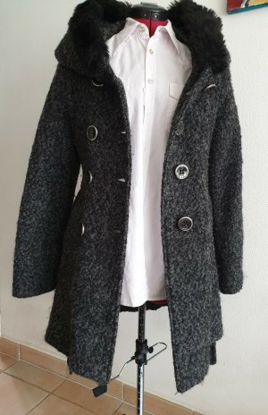 Laeticia Dreams Hooded Coat black-grey