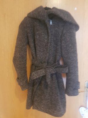 Zara Abrigo de invierno taupe-marrón grisáceo