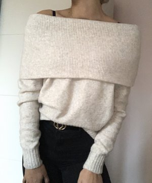 Warmer Winterpulli in Creme weiß